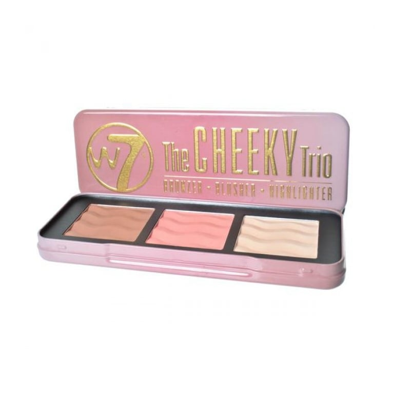 W7 Cosmetics The Cheeky Trio Bronze, Blusher and Highlighter Palette.