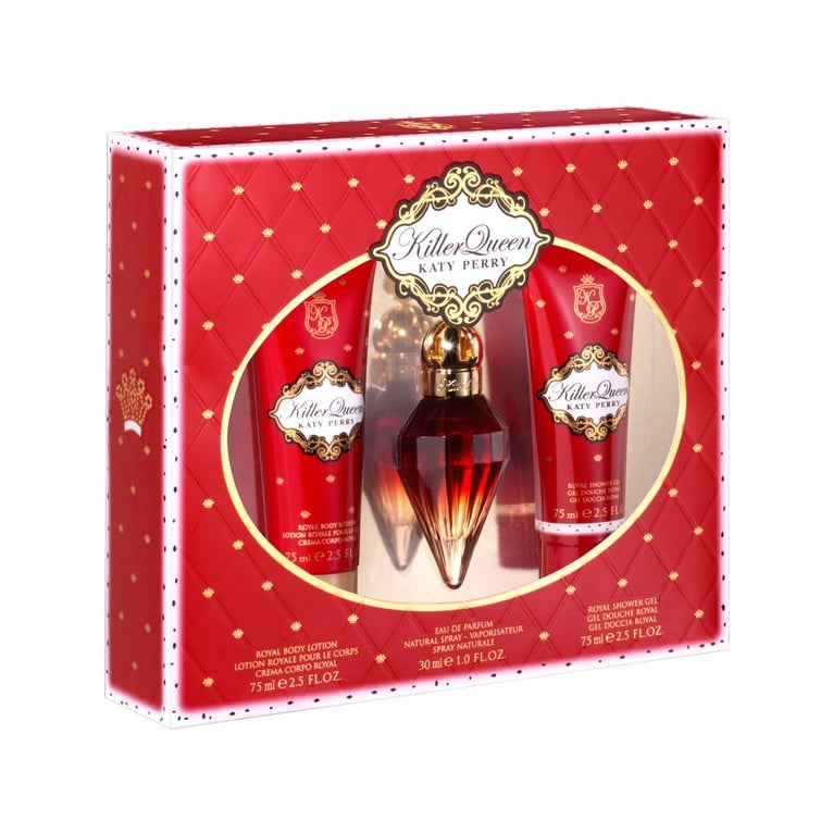 Katy Perry Killer Queen - 30ml Perfume Gift Set With Body Lotion and Shower Gel.