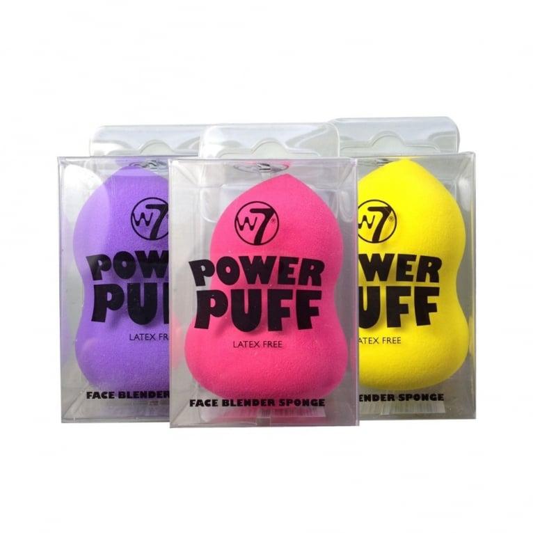 W7 Cosmetics W7 Power Puff Latex Free Foundation Face Blender Sponge - Calabash