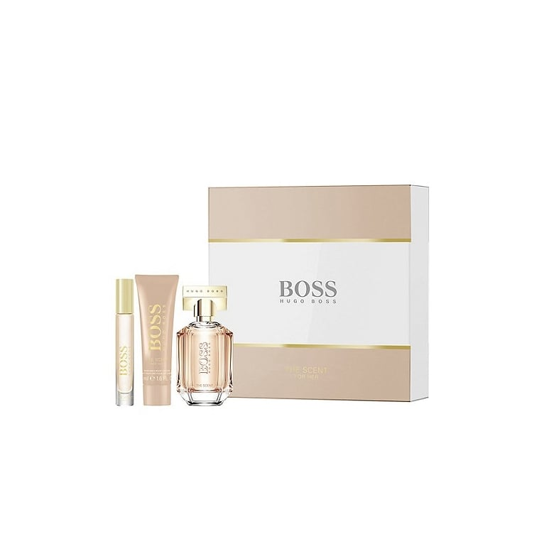 Hugo Boss The Scent For Her - 50ml Gift Set With 50ml Body Lotion and Mini
