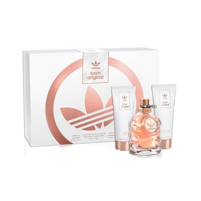 Adidas Born Original Pour Elle - 50ml EDP Gift Set With Body Lotion, Shower gel