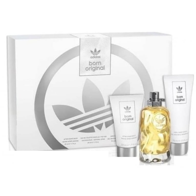 Adidas Born Original For Him - 50ml EDt Gift Set With After Shave Balm, Shower