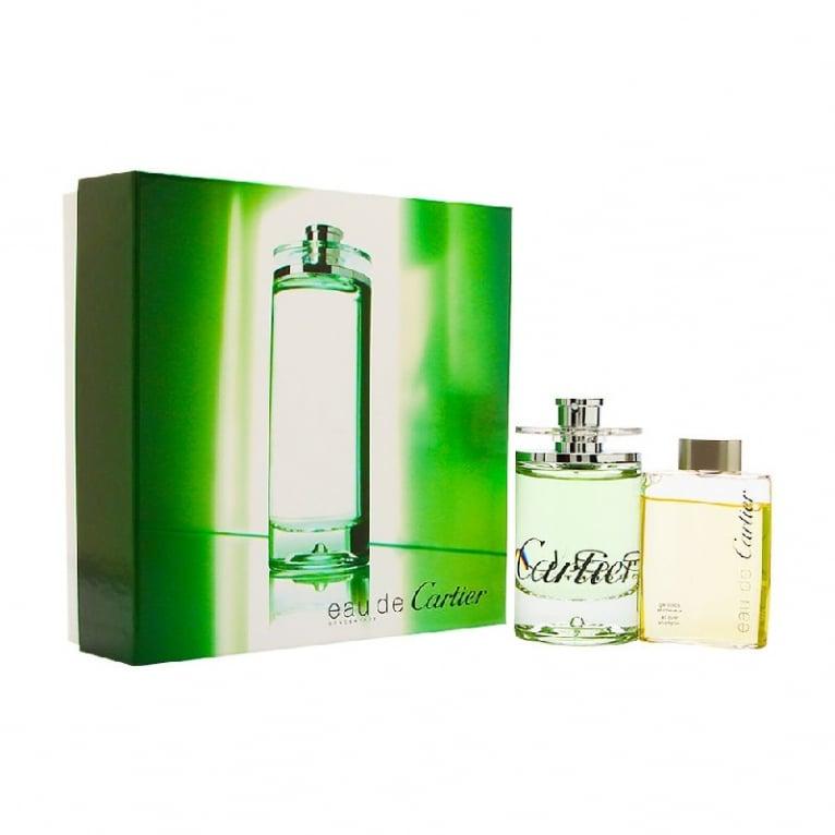 Cartier Eau de Cartier - 100ml EDT Gift Set With 100ml All over Shampoo.