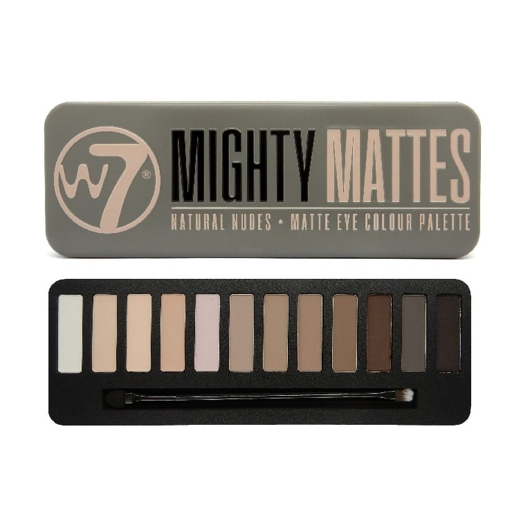 W7 Cosmetics Mighty Mattes Eye Shadow Palette - 12 Matte Shades