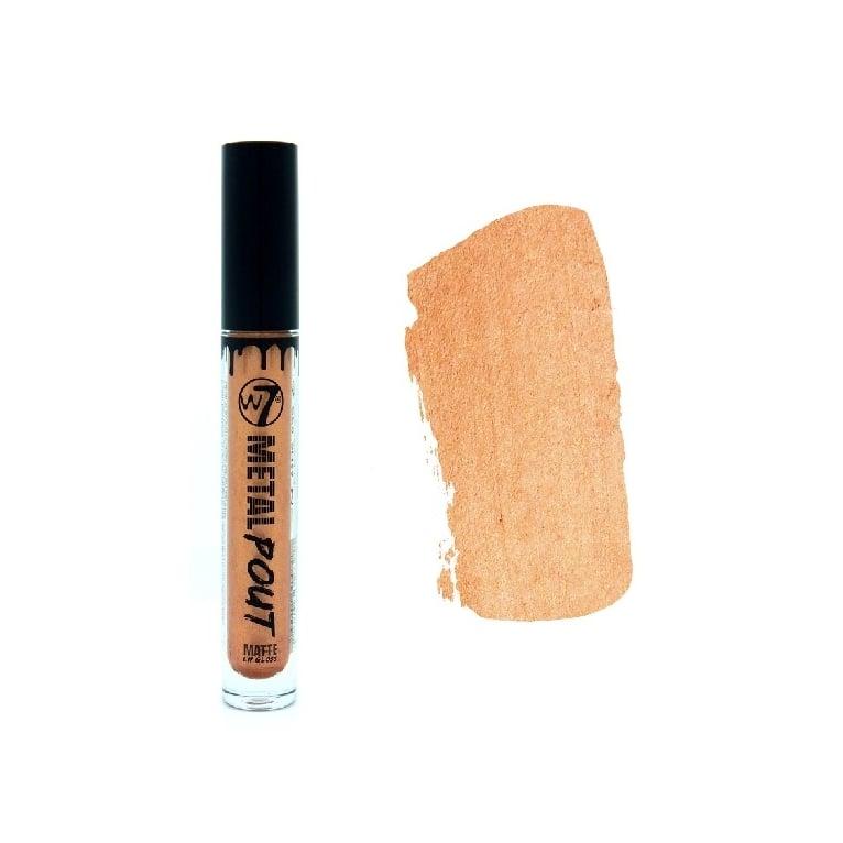 W7 Cosmetics Metal Pout Matte Lip Gloss - Goldilocks.