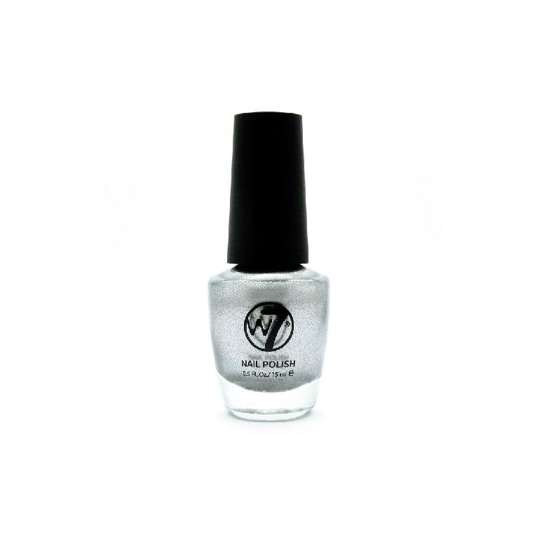 W7 Cosmetics Nail Polish - 118 Silver Metal.