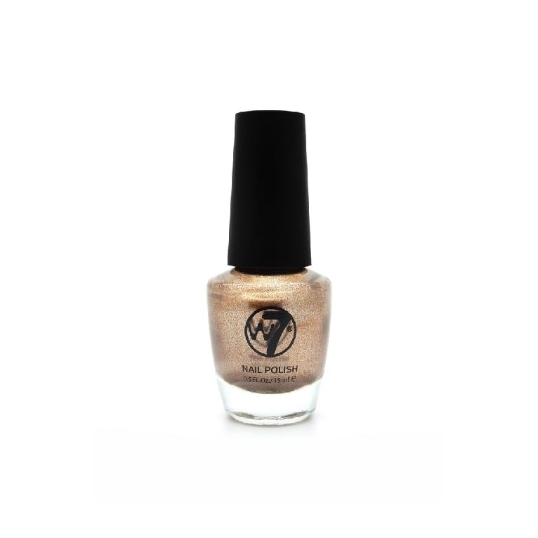 W7 Cosmetics Nail Polish - 121 Gold Metal.