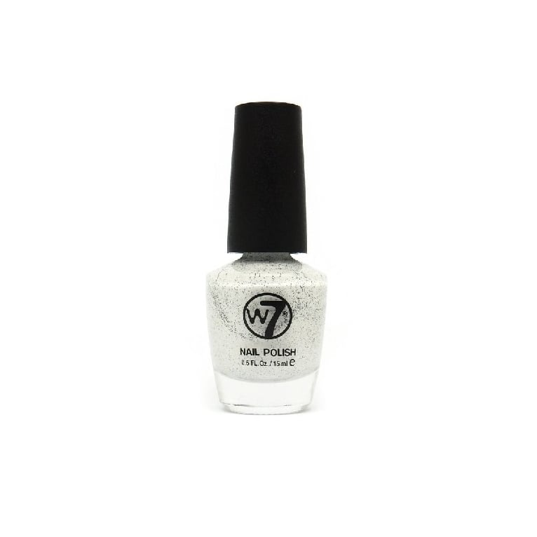 W7 Cosmetics Nail Polish - 86 Speckled White.