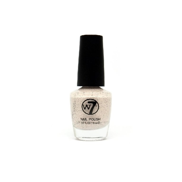 W7 Cosmetics Nail Polish - 87 Speckled Peach.
