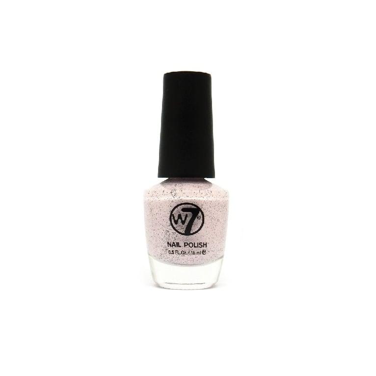 W7 Cosmetics Nail Polish - 88 Speckled Pink.