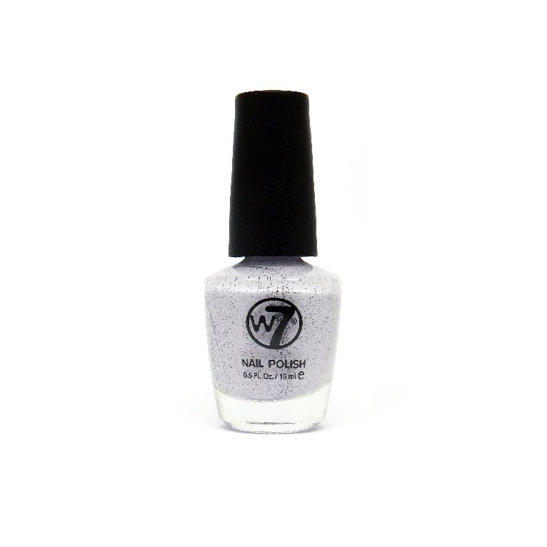 W7 Cosmetics Nail Polish - 89 Speckled Lilac.