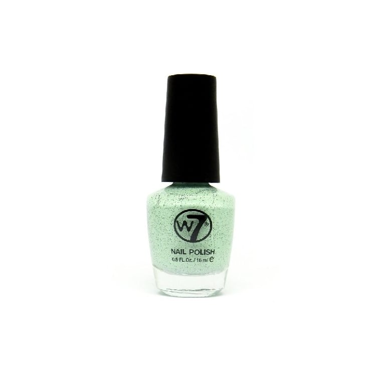W7 Cosmetics Nail Polish - 91 Speckled Mint.