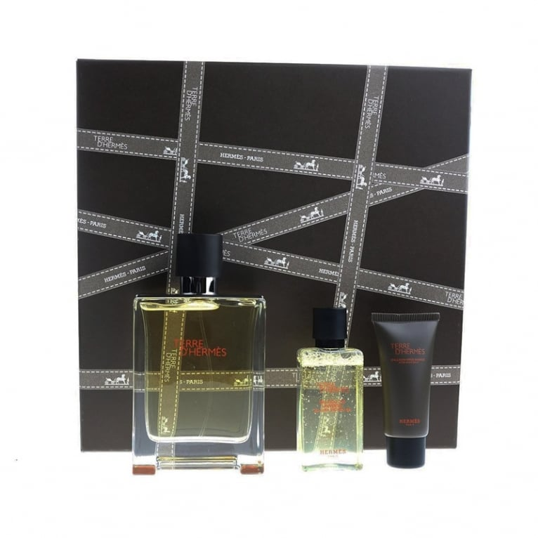 Hermes Terre D'Hermes - 75ml EDP Gift Set With 15ml Aftershave Balm, 40ml Shower