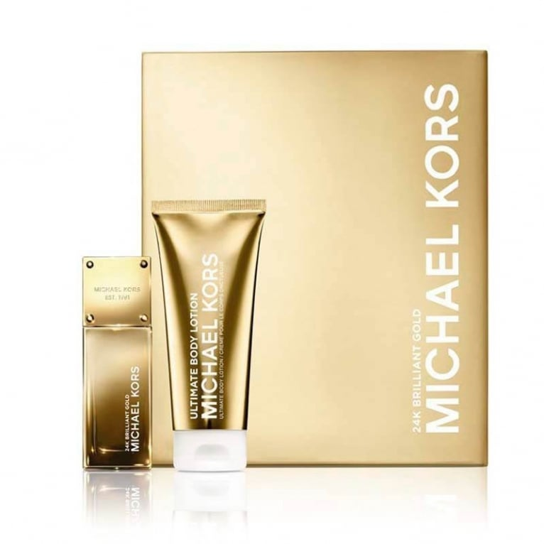 Michael Kors 24K Brilliant Gold - 50ml EDP Gift Set With 100ml Ultimate Body Lo.
