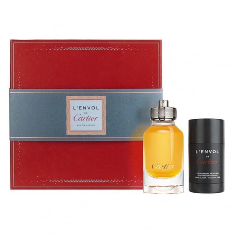 Cartier L'Envol Pour Homme - 80ml EDP Gift Set With 75ml Deodorant Stick.
