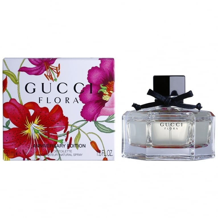 Gucci Flora By Gucci Anniversary Edition - 50ml Eau De Toilette Spray.