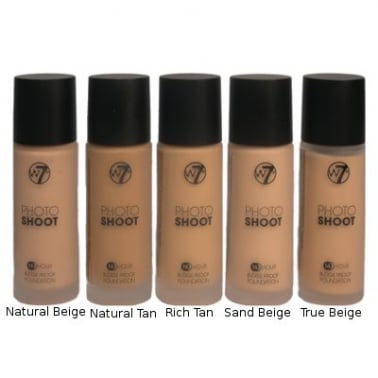 W7 Cosmetics Photo Shoot 16 Hour Smudge Proof Foundation - Natural Tan.
