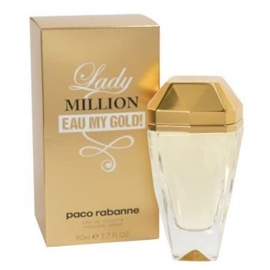 Paco Rabanne Lady Million Eau My Gold - 80ml Eau De Toilette Spray.