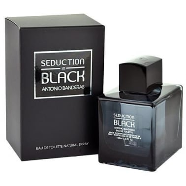 Antonio Banderas Seduction In Black 100ml Eau De Toilette Spray.