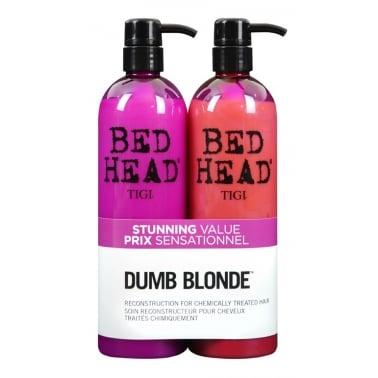 Tigi Bed Head Colour Combat Dumb Blonde Tween Shampoo & Conditioner Duo 2 x750ml