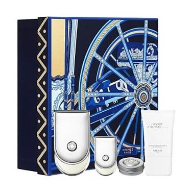Hermes Voyage d'Hermes 100ml Gift Set With 5ml Mini, 30ml Shower Gel