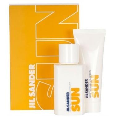 Jil Sander Sun For Women 75ml EDT With 75ml Hair & Body Shampoo