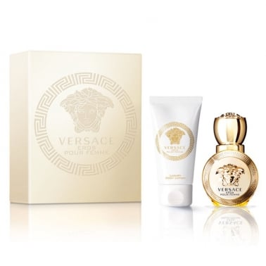 Versace Eros Pour Femme - 30ml EDP Gift Set With 50ml Perfumed Body Lotion.