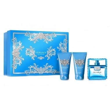 Versace Man Eau Fraiche - 50ml EDT Gift Set, With Shower Gel, Aftershave Balm