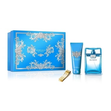 Versace Man Eau Fraiche - 100ml EDT Gift Set, With Shower gel and Money Clip.