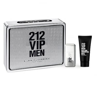 Carolina Herrera 212 VIP For Men - 50ml EDT Gift Set With 75ml Shower gel.