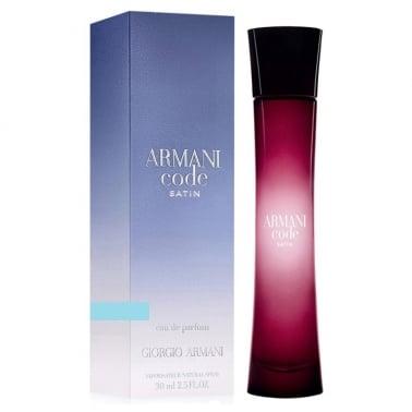 Giorgio Armani Code Satin Pour Femme - 75ml Eau De Parfum Spray.