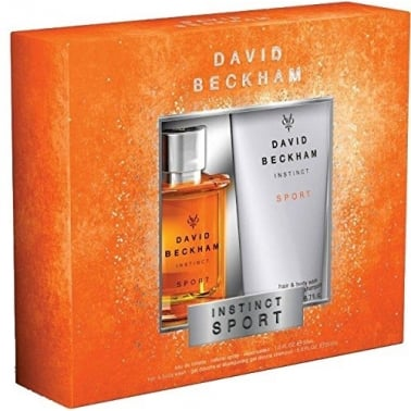 David Beckham Instinct Sport - 30ml EDT Gift Set With 200ml Hair and Body Wash.