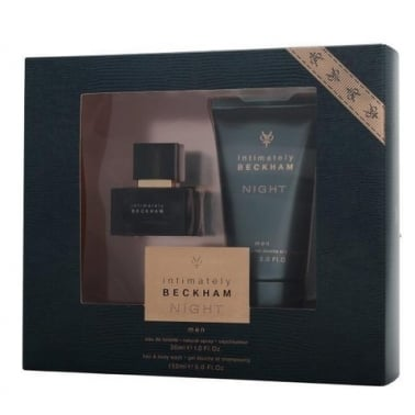 David Beckham Intimately Night For Men - 30ml EDT Gift Set With Shower Gel