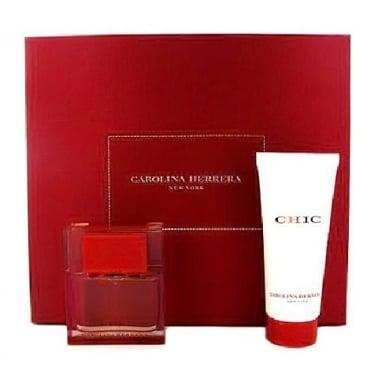 Carolina Herrera Chic For Women - 30ml EDP Gift Set, DAMAGED BOX.