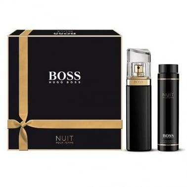 Hugo Boss Nuit Pour Femme - 50ml EDP Gift Set With Body Lotion,