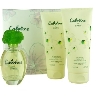 Gres Cabotine - 100ml EDT Gift Set With B/L and S/G, DAMAGED BOX.