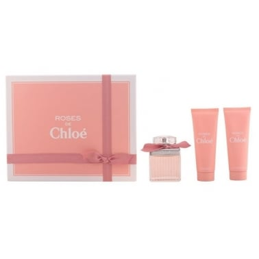 Chloe Roses de Chloe - 75ml Edp Gift Set With 75ml Body Lotion and Shower Gel.