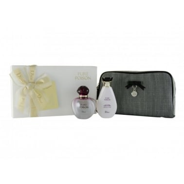 Christian Dior Pure Poison - 50ml EDP Gift Set With Body Lotion, DAMAGED BOX