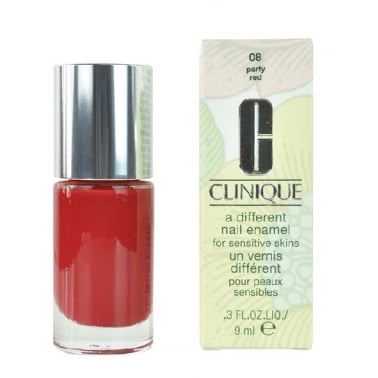 Clinique A Different Nail Enamel For Sensitive Nail - 08 Party Red.