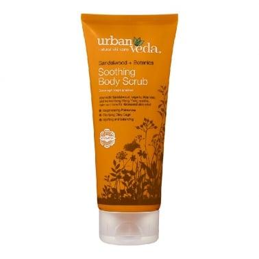 Urban Veda Natural Skincare Sandalwood + Botanics - 200ml Soothing Body Scrub