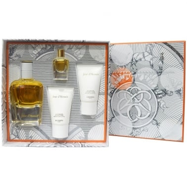 Hermes Jour D'hermes - 85ml EDP Gift Set With Miniature and Body Lotion