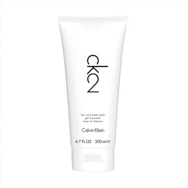 Calvin Klein CK2 For Men and Women - 200ml Hair and Body Wash.