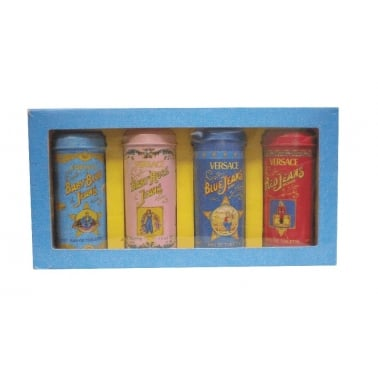 Versace Jeans Mini Collection Set - 4 x 7.5ml Baby Rose, Baby Blue, Red Jeans