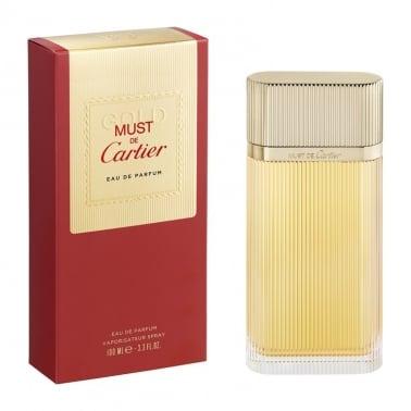 Cartier Must de Cartier Gold - 100ml Eau De Parfum Spray.