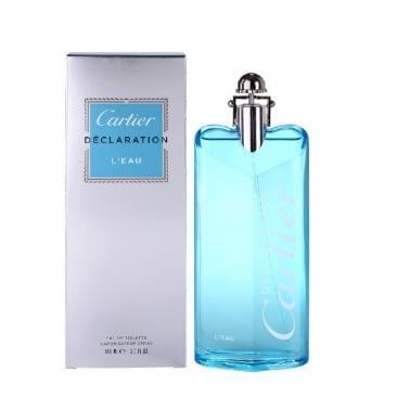 Cartier Declaration L'eau Pour Homme - 100ml Eau De Toilette Spray.