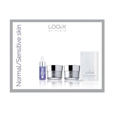 LOOkX Try Me Set Skincare Set Normal/Sensitive Skin 4 Piece Set