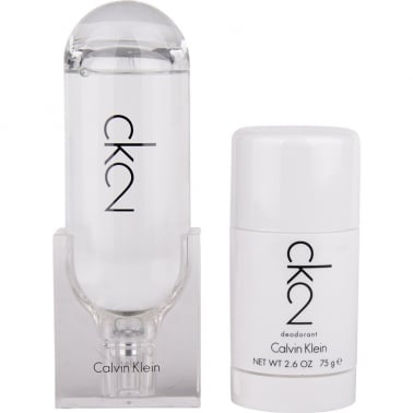 Calvin Klein CK2 For Men and Women - 100ml Gift Set With 75ml Deodorant Stick.