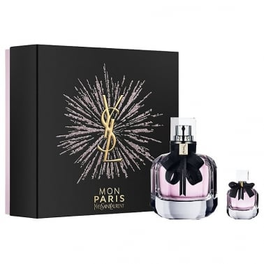 Yves Saint Laurent Mon Paris - 50ml EDP Gift Set With 7.5ml Travel Spray.