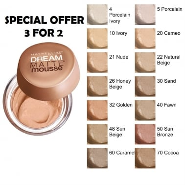 Maybelline Dream Matte Mousse Foundation - 026 Honey Beige.