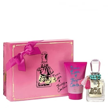 Juicy Couture Peace, Love & Juicy Couture 50ml Eau De Parfum Spray & 100ml Body